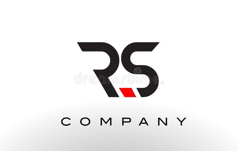 Logo de RS Vecteur de conception de lettre illustration de vecteur