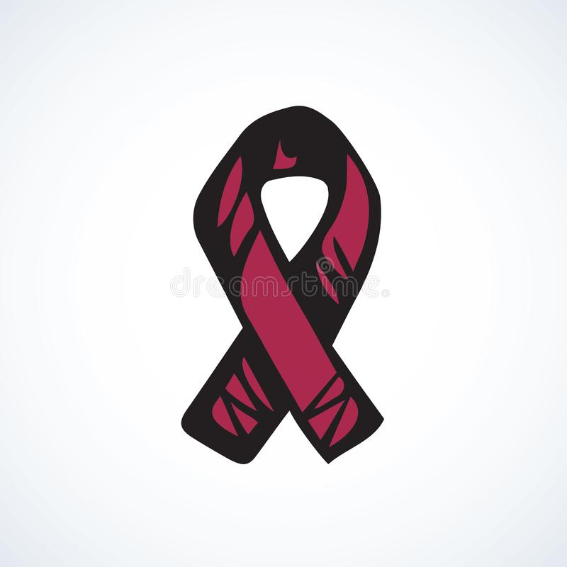 Logo de ruban d'aide Retrait de vecteur illustration stock