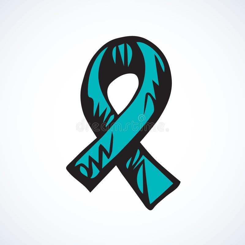 Logo de ruban d'aide Retrait de vecteur illustration libre de droits
