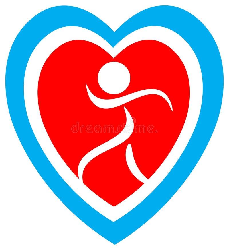 Logo de sécurité de coeur illustration de vecteur