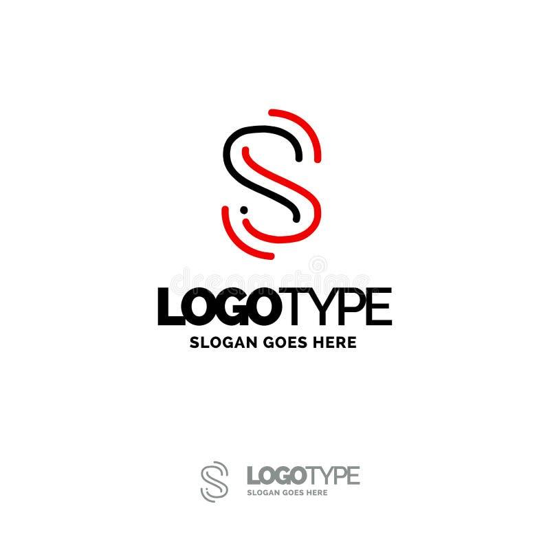 Logo de S Digital Logo Template Calibre noir et rouge de logo, technologie illustration libre de droits