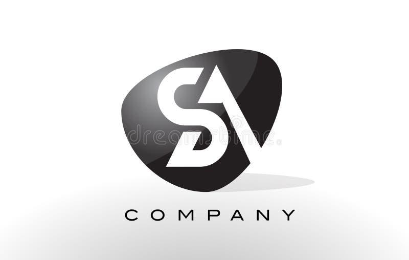 Logo de SA Vecteur de conception de lettre illustration stock