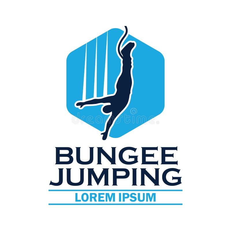 Logo de saut à l'élastique avec l'espace des textes pour votre slogan/slogan illustration stock