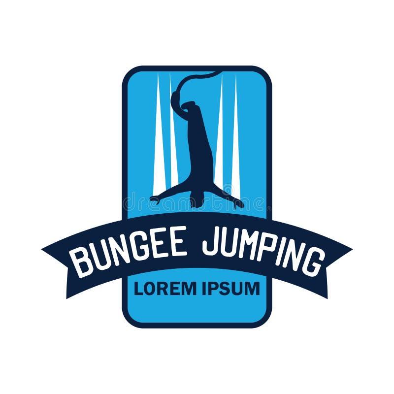 Logo de saut à l'élastique avec l'espace des textes pour votre slogan/slogan illustration de vecteur