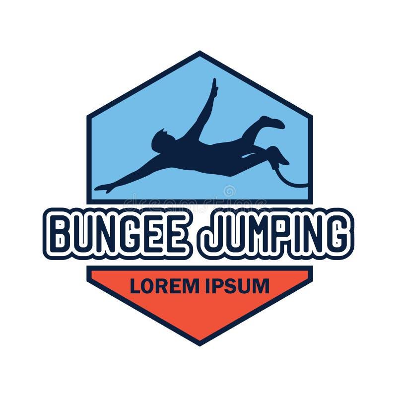 Logo de saut à l'élastique avec l'espace des textes pour votre slogan/slogan illustration libre de droits