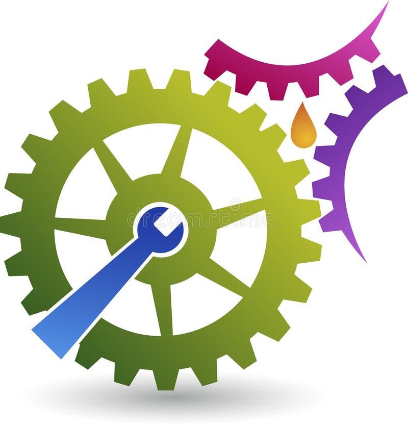 Logo de service d'huile illustration de vecteur