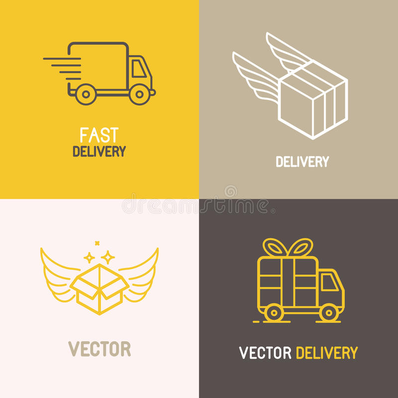 logo de service de livraison express de vecteur illustration de vecteur illustration du. Black Bedroom Furniture Sets. Home Design Ideas