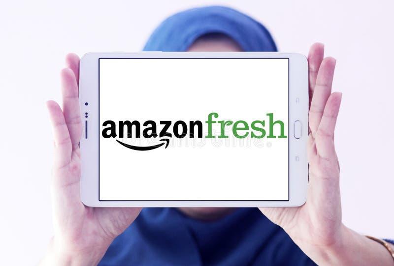 Logo de service de distribution d'épicerie d'AmazonFresh photo stock