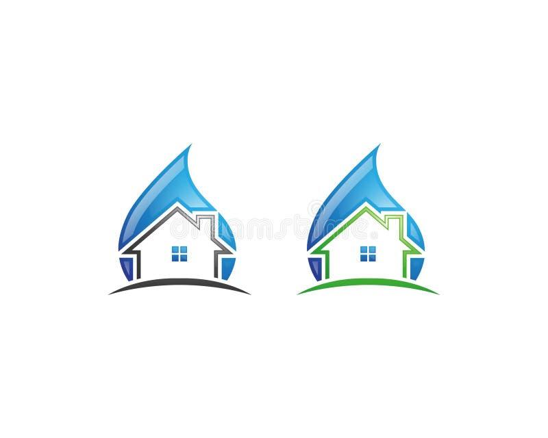 Logo de services de nettoyage et conception à la maison d'icône photo libre de droits