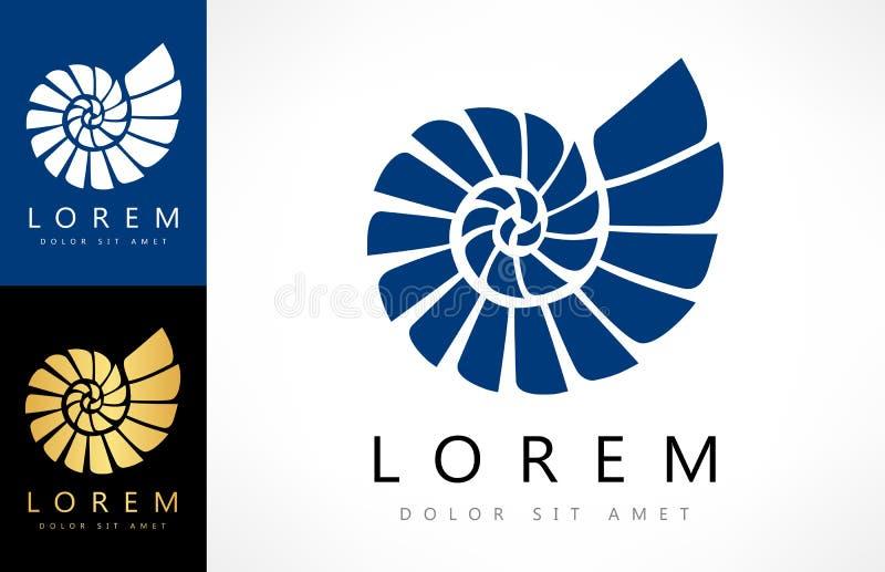 Logo de Shell Vecteur de mollusque illustration stock