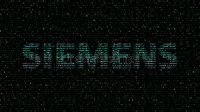 Logo de Siemens fait de symboles hexadécimaux sur l'écran d'ordinateur Rendu 3D éditorial illustration stock