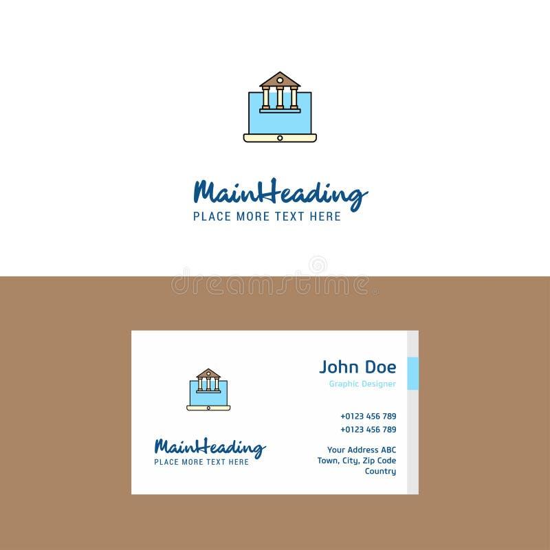 Logo de site Web d'immobiliers et calibre plats de carte de visite Concept Logo Design de Busienss illustration libre de droits