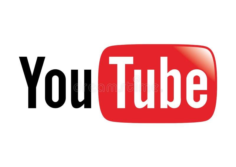 Logo de site Web de YouTube images libres de droits