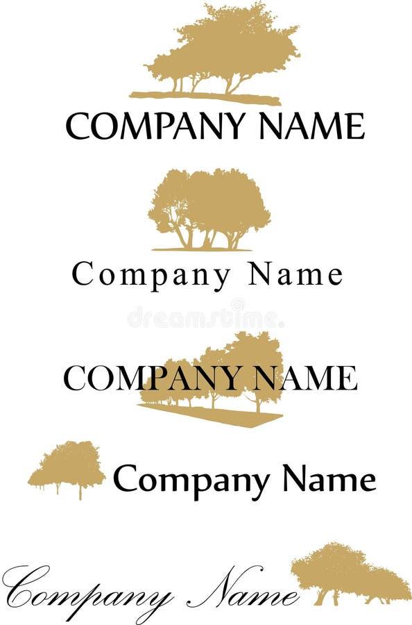 Logo de société d'arbre illustration de vecteur