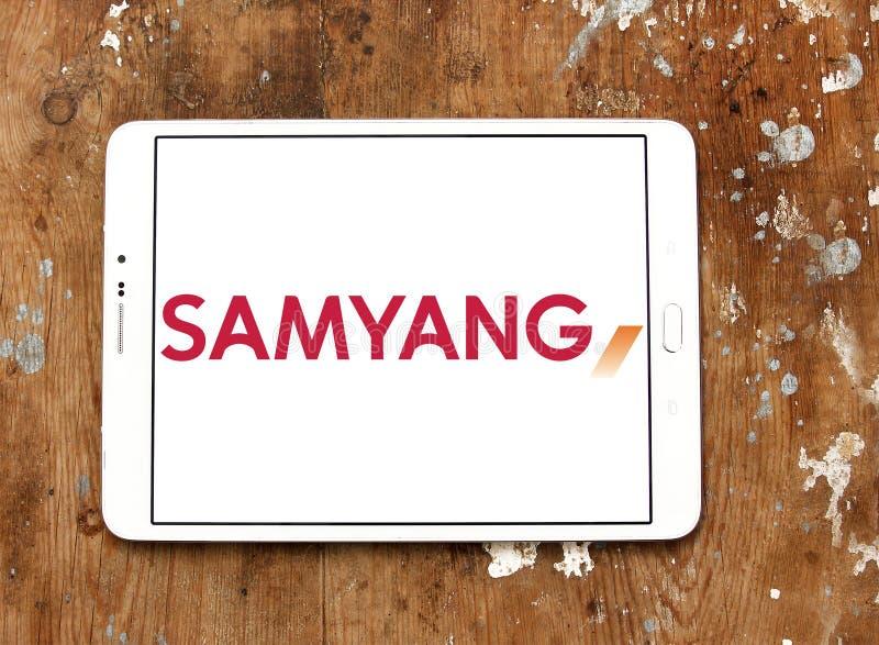 Logo de société d'optique de Samyang images stock