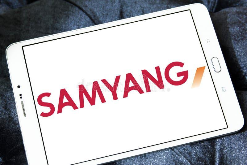 Logo de société d'optique de Samyang photo libre de droits
