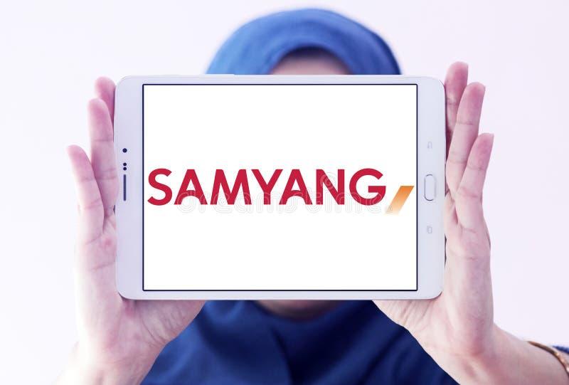 Logo de société d'optique de Samyang photo stock