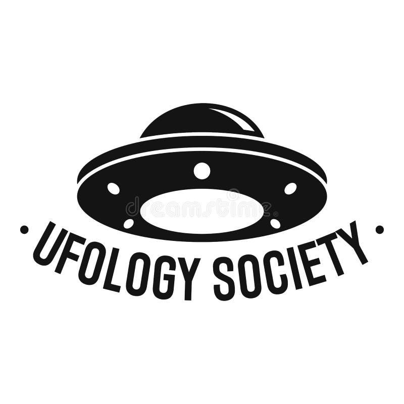 Logo de société d'Ufology, style simple illustration stock