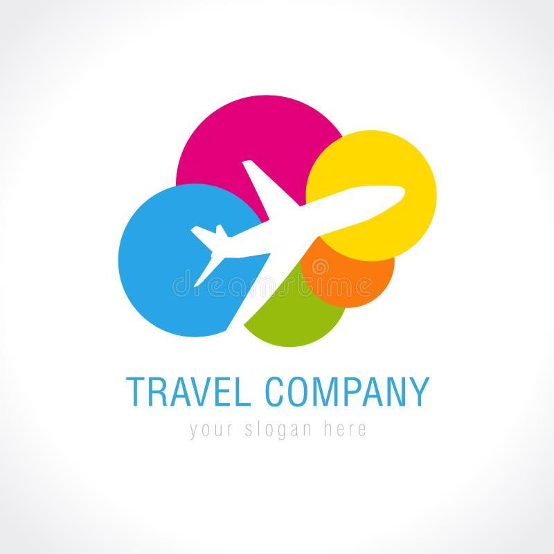 Logo de société de voyage illustration de vecteur