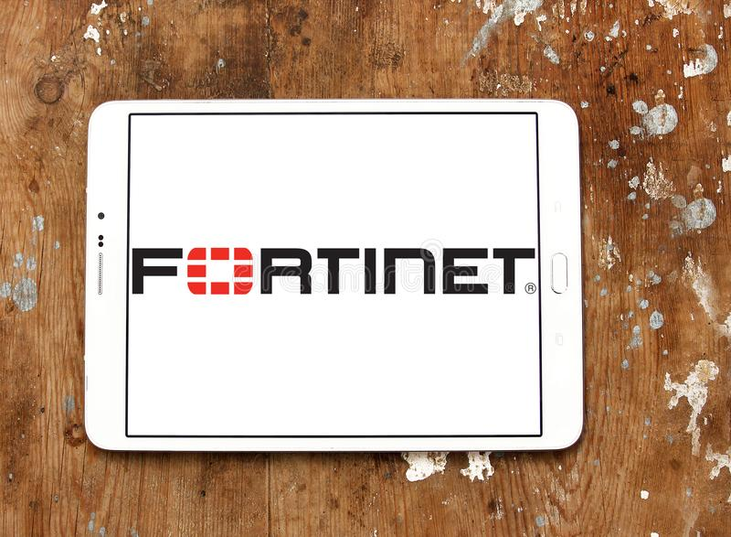 Logo de société de Fortinet images stock
