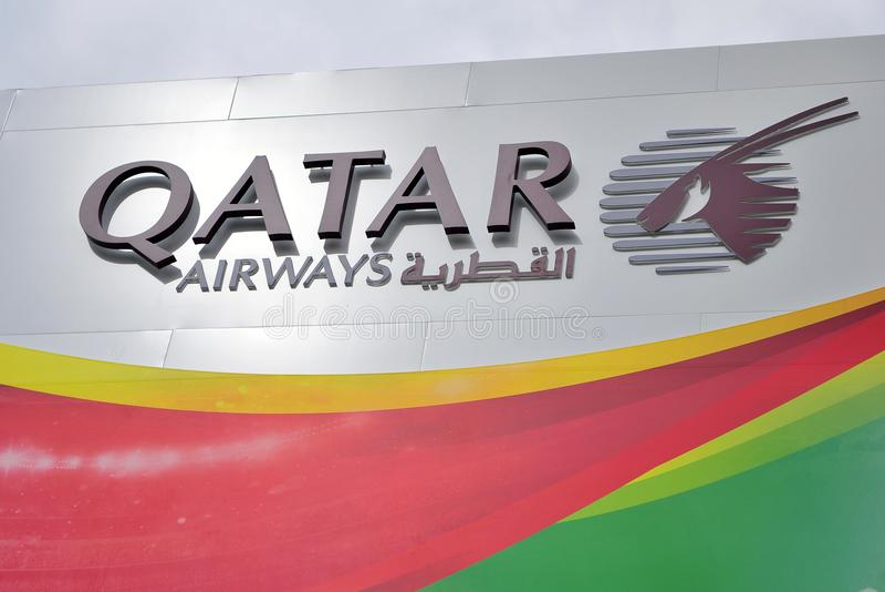 Logo de société de Qatar Airways photo libre de droits