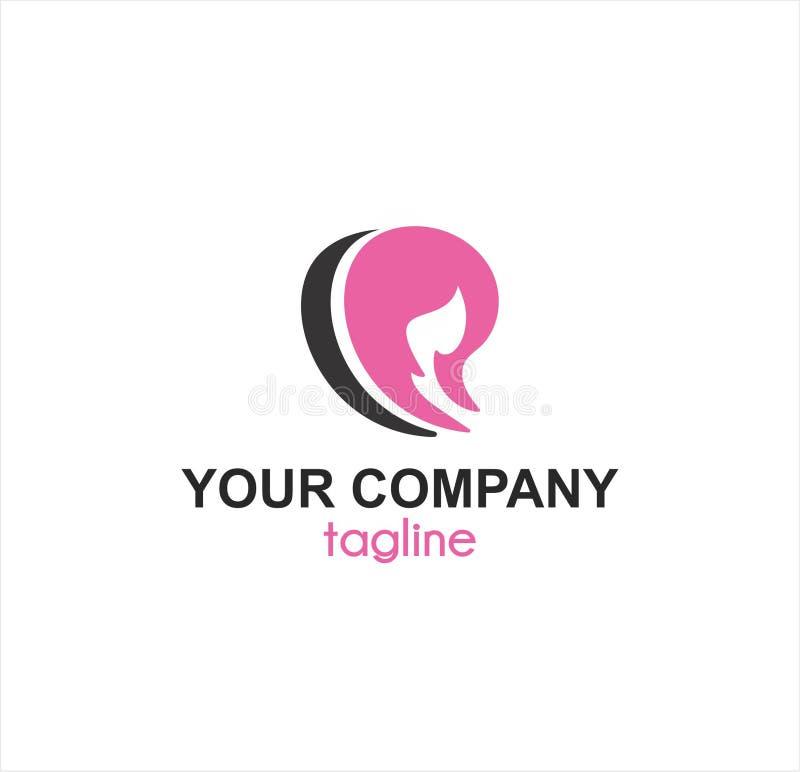 Logo de société de station thermale et de boutique de beauté illustration libre de droits
