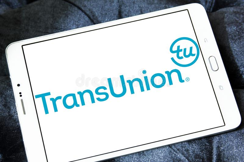 Logo de société de technologie de l'information de TransUnion photographie stock libre de droits
