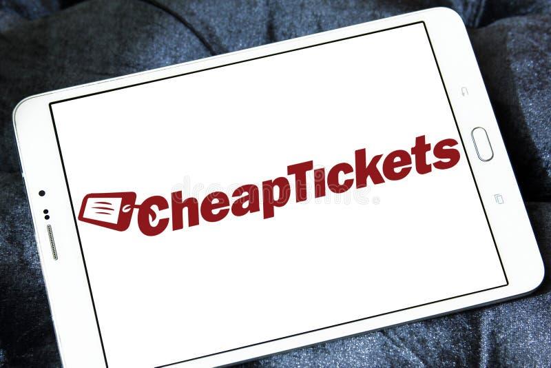 Logo de société de voyage de CheapTickets photo libre de droits