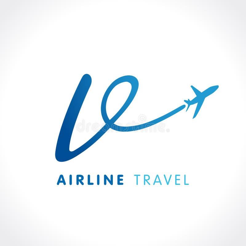 Logo de société de voyage de transport de la lettre v illustration stock