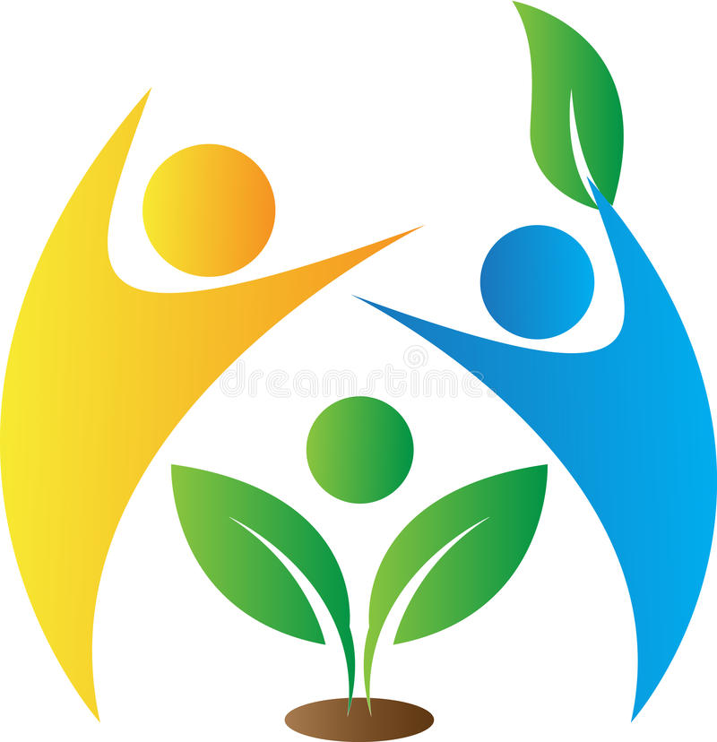 Logo de soin d'Enironmental illustration stock