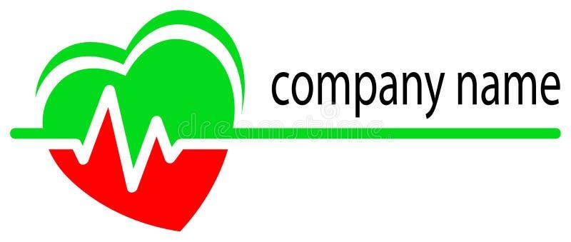 Logo de soin de coeur illustration libre de droits