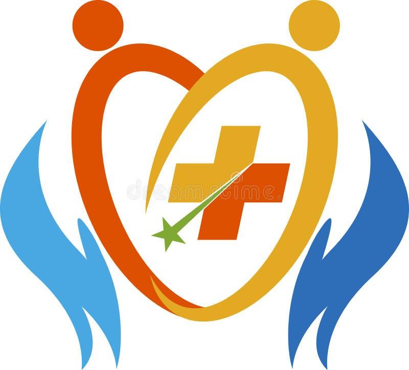 Logo de soin de couples illustration de vecteur