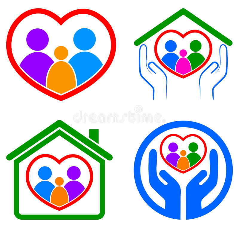 Logo de soin de famille illustration libre de droits