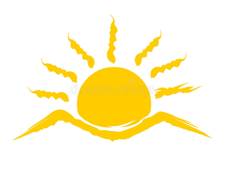 Logo de Soleil Levant illustration libre de droits