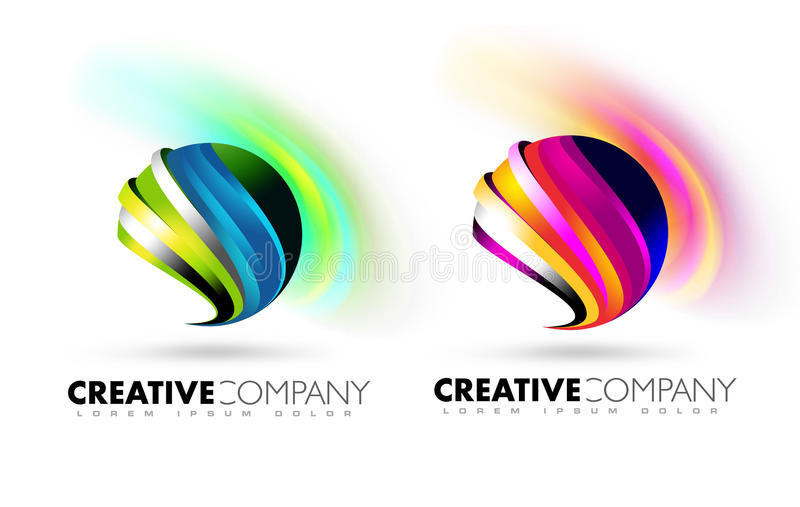 Logo de sphère illustration stock