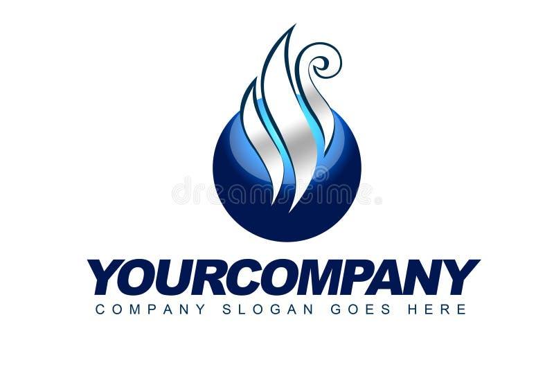 Logo de sphère de vapeur illustration libre de droits
