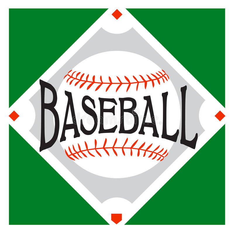 Logo de sport de base-ball illustration stock