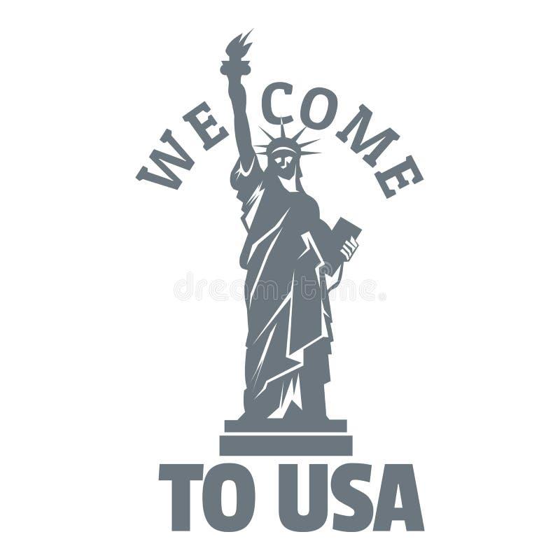Logo de statue de liberté, style simple illustration libre de droits