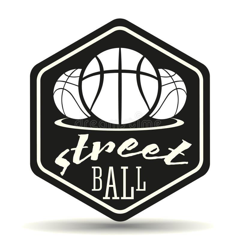 Logo de Streetball illustration stock