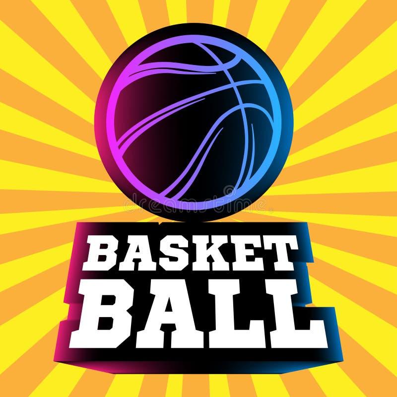 Logo de Streetball illustration libre de droits