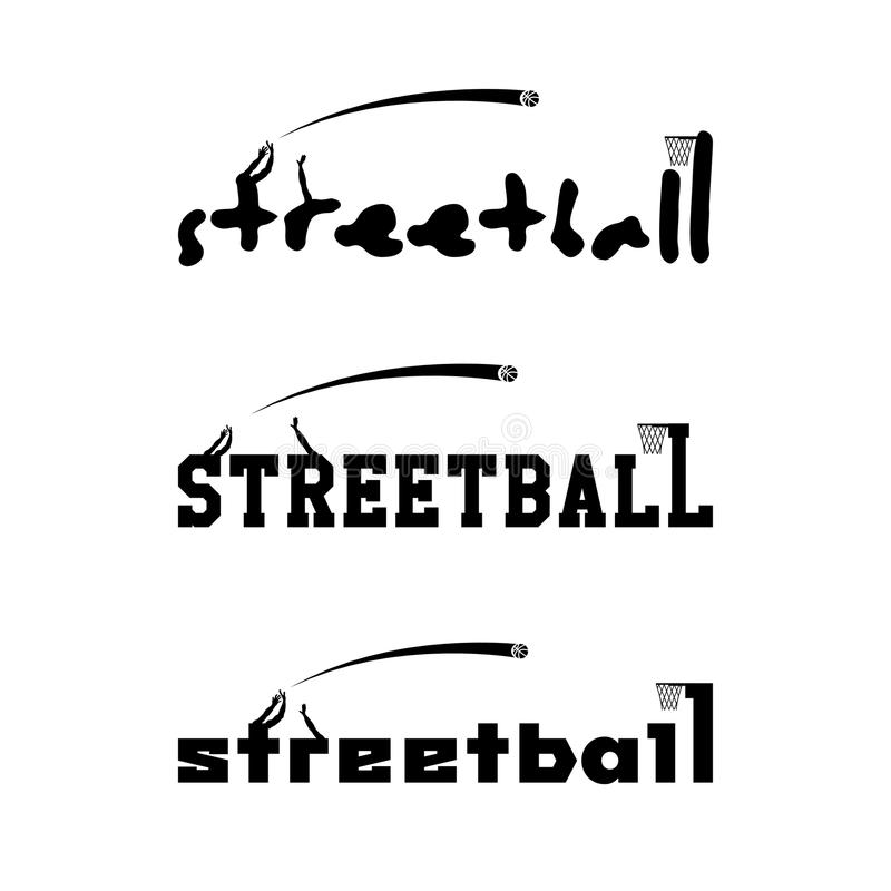 Logo de Streetball pour l'équipe et la tasse illustration libre de droits