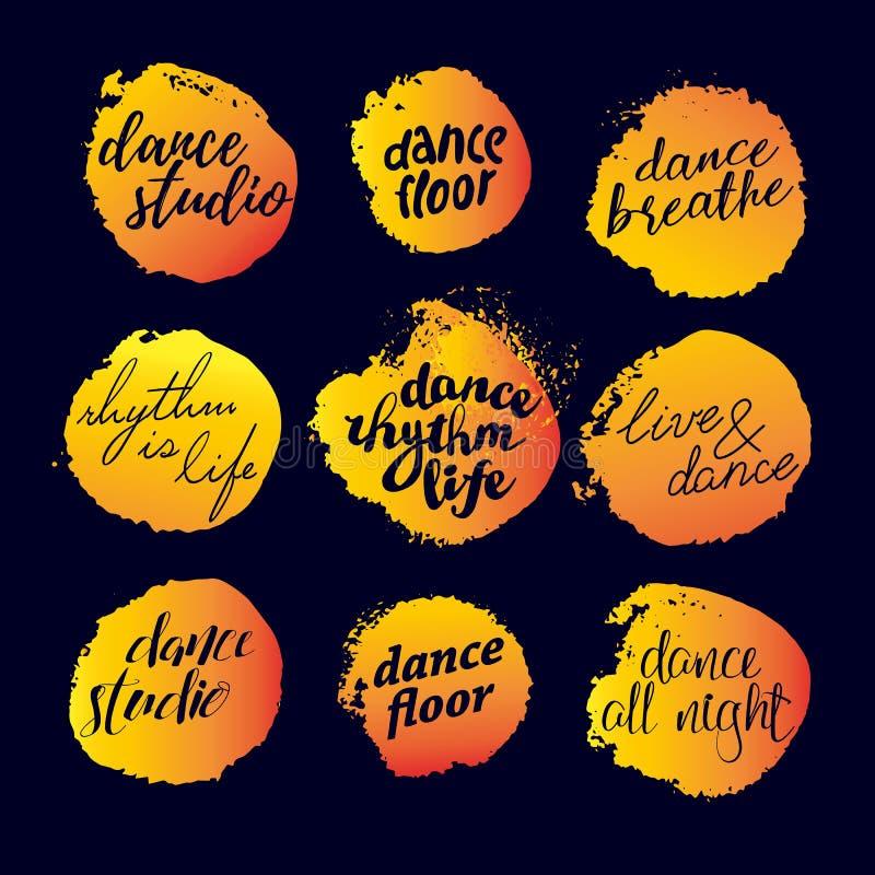 Logo de studio de danse de vecteur illustration de vecteur