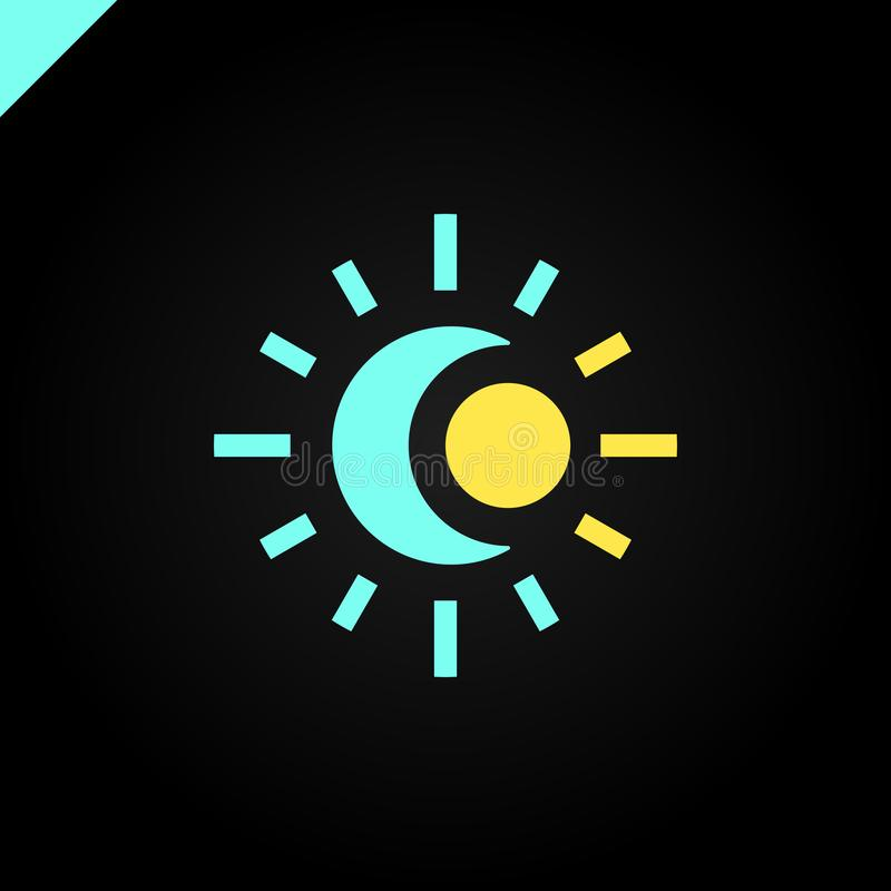 Logo de Sun et de lune illustration abstraite de vecteur illustration libre de droits