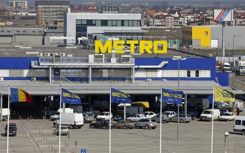 Logo de supermarché de Cash&Carry de métro photographie stock