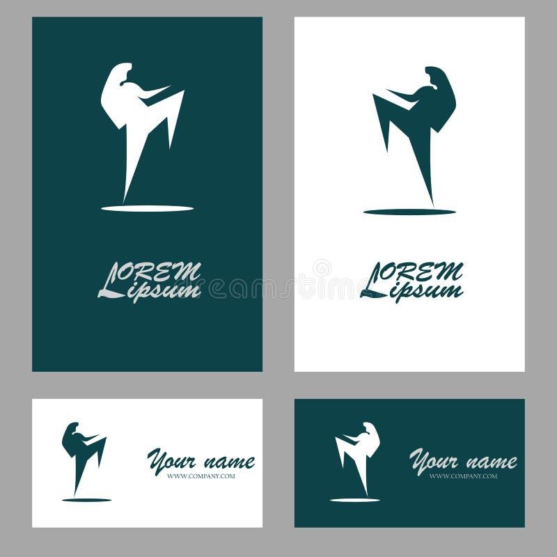 Logo de symbole de combattant illustration libre de droits