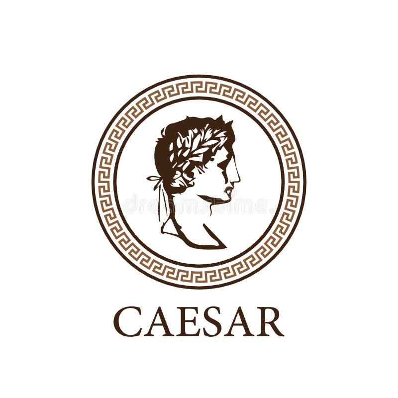 Logo de tête de César illustration de vecteur