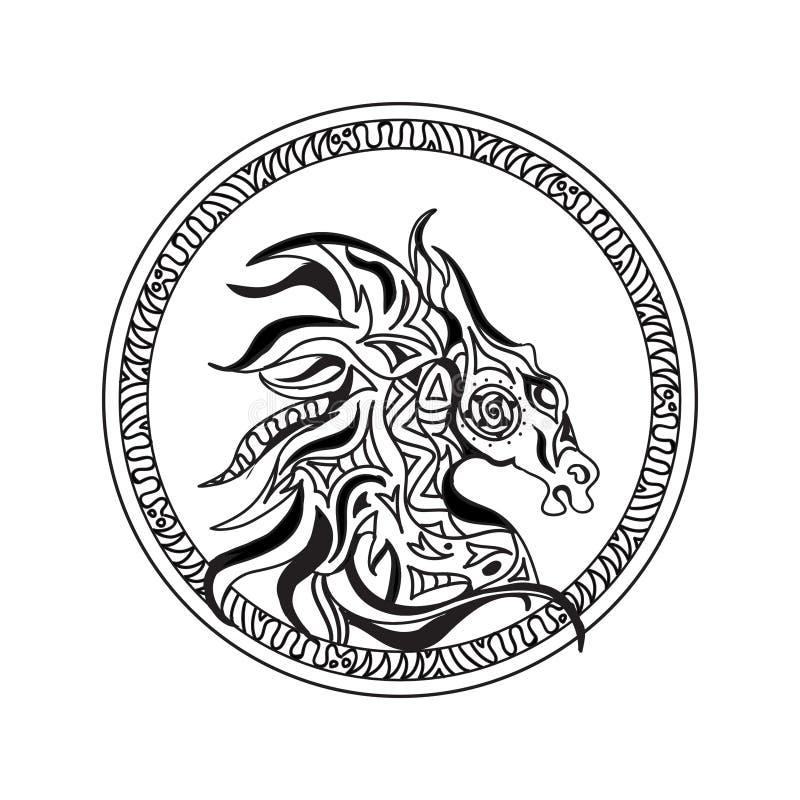 Logo de tête de cheval illustration de vecteur