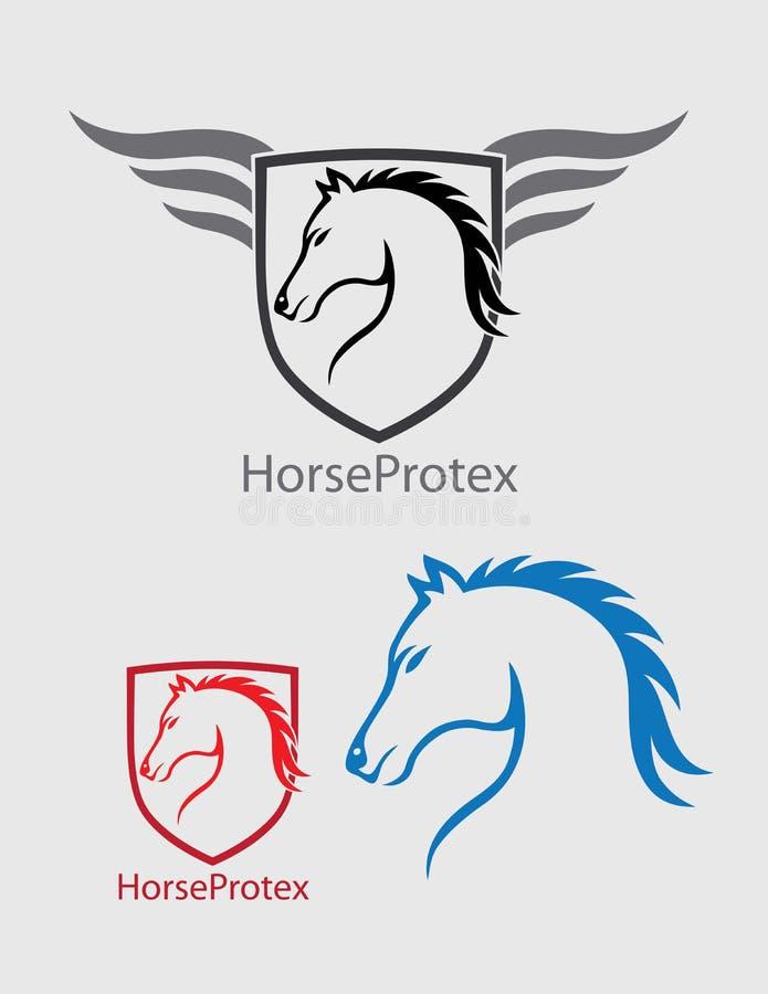 Logo de tête de cheval illustration stock