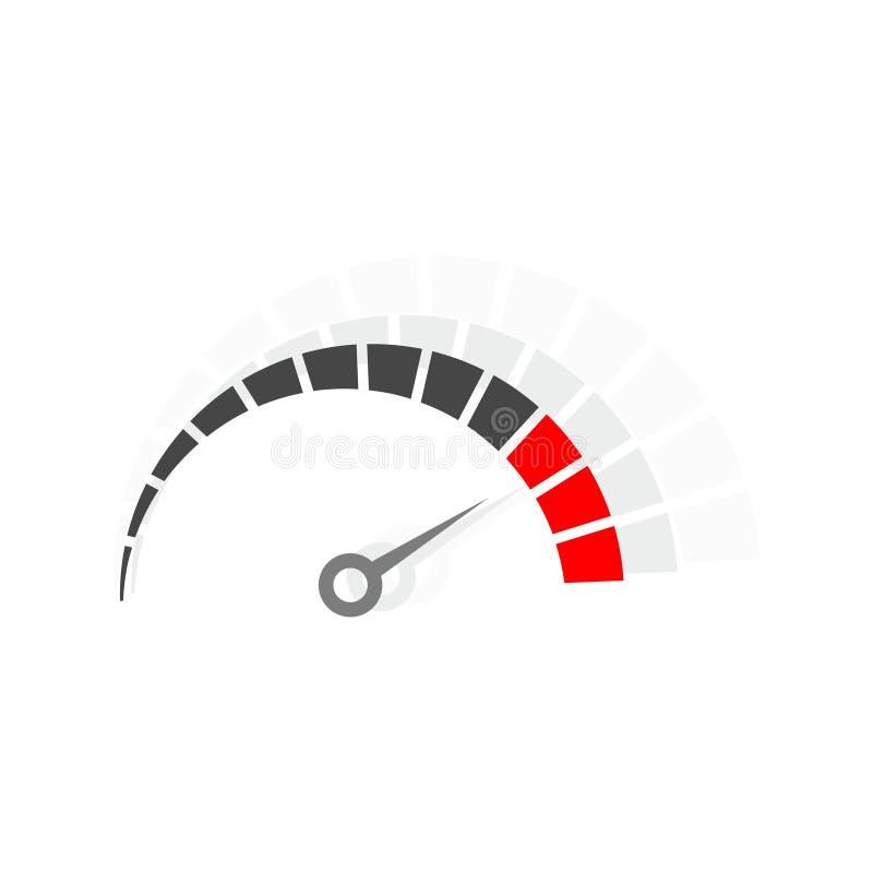 Logo de tachymètre, conception de vecteur de mètre de vitesse illustration stock