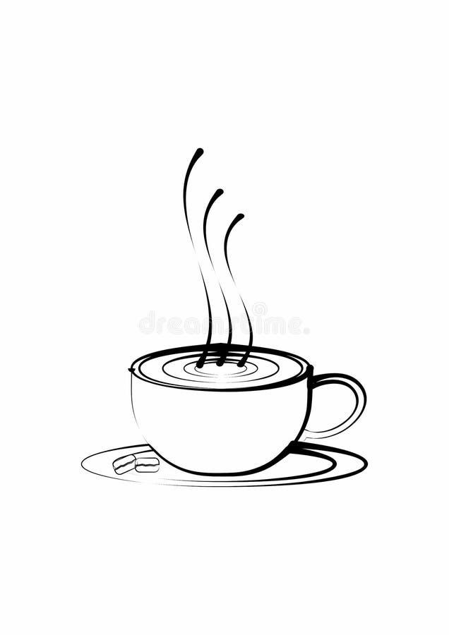 Logo de tasse de café illustration de vecteur